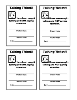 Talking Tickets- Classroom Management without Interruptions!