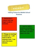 Talking Tickets- Counselor's Pass
