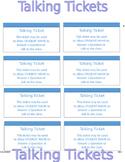 Talking Tickets - PBIS Impulse Control ADHD Anger Mgt. Editable SIT