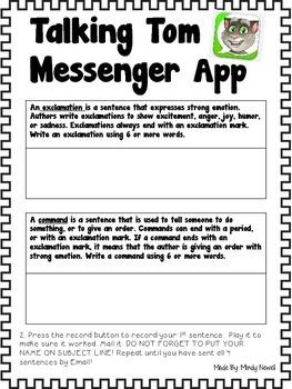 Talking Tom Messenger App Accountability Sheets