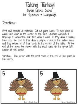 Talking Turkey! An Open Ended Game for Speech and Language