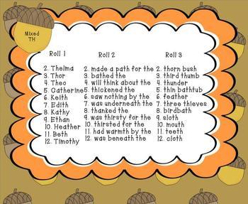 Talking Turkey: Articulation Sentences (R,S,L,SH,CH,TH)
