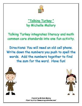 Talking Turkey- Freebie