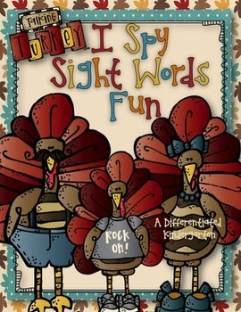 Talking Turkey I Spy Sight Words Fun-Differentiated and Aligned Dolch Lists 1-11