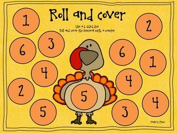 Talking Turkey Math Freebie K-1