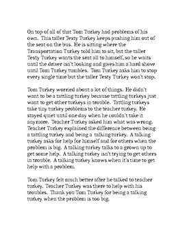 Talking Turkey versus Tattling Turkey