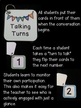 Talking Turn Cards- Tools for Speaking and Listening and Conversation Circles