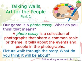 Talking Walls Art for the People Reading Street PowerPoint 3.6.3