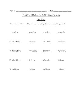 Talking Walls Differentiated Spelling (Scott Foresman Reading Street)