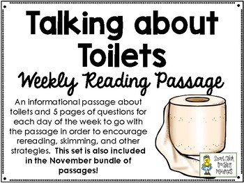 Talking about Toilets - Weekly Reading Passage and Questions