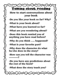 Talking about reading- Questions to ask your peers