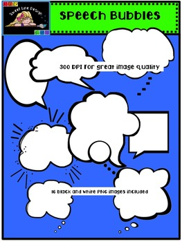 Clipart: Talking and Thinking Speech Bubbles {Sweet Line Design Clipart}