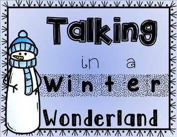 Talking in a Winter Wonderland Poster for Speech Therapy Room