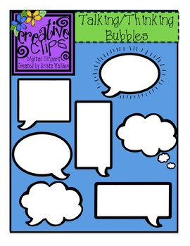 Talking 'n Thinking Bubbles {Creative Clips Digital Clipart}