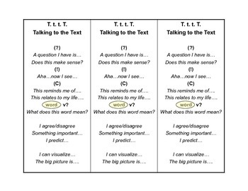 Talking to the Text Bookmarks