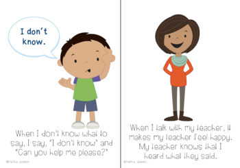 Talking with My Teacher - Interactive Social Story