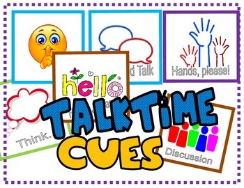 Classroom Management: Talktime Cues / Behavior Modification Cards