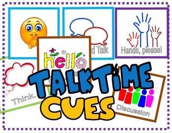 Classroom Management: Talktime Cues / Behavior Modification Cards
