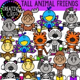 Tall Animal Friends {Creative Clips Clipart}