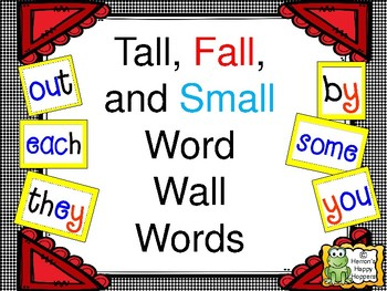 Tall, Fall, and Small Word Wall Words