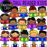 Tall Kid Readers {Creative Clips Clipart}