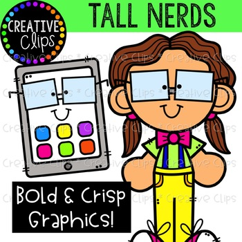 Tall Nerds Clipart {Creative Clips Clipart}
