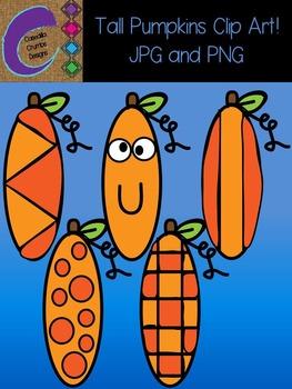 Tall Pumpkins Clip Art  Color Images