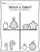 Tall & Short Christmas Measurement Worksheets