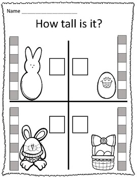 Tall & Short Easter Measurement Worksheets