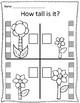 Tall & Short Spring Flower Measurement Worksheets