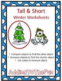 Tall & Short Winter Measurement Worksheets