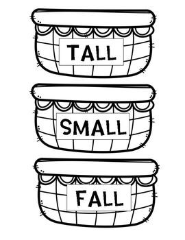 Tall Small & Fall Letter Egg Sort
