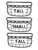 Tall Small & Fall Letter Egg Sort