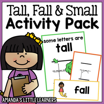 Tall, Small and Fall Letters Activity Set