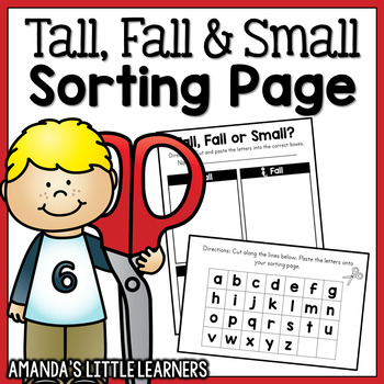 Tall, Small and Fall Letters Sorting Freebie