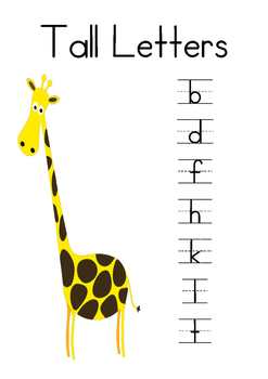Tall, Tail and Short Letters
