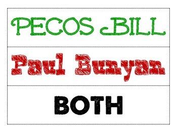 Tall Tale Comparison (Pecos Bill VS Paul Bunyan)
