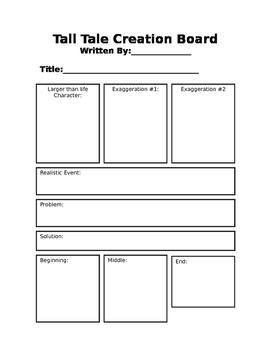 Tall Tale Creation Board