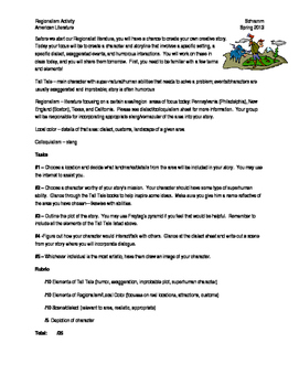 Tall Tale Creative Writing Assignment