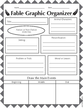 fable and folktale graphic organizer