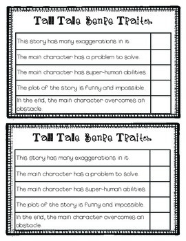 Tall Tale Interactive Notebook/Lapbook-Can be used with ANY Tall Tale!