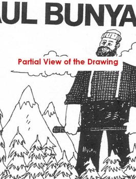 Tall Tale PAUL BUNYAN + 10 Reading Comprehension Qs Main Ideas, Author's Purpose