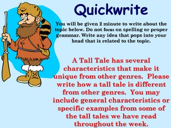 Tall Tale Quickwrite