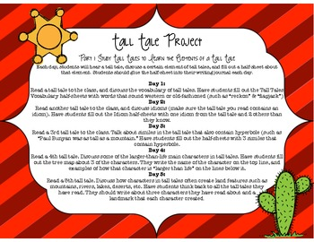 Tall Tale Reading and Writing Project