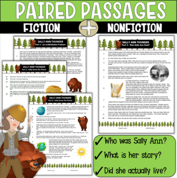 Tall Tale: Sally Ann Thunder (Paired Reading and Comprehension Questions)