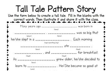 Tall Tale Story Pattern