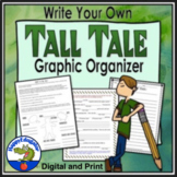 Tall Tales Story Pattern w/ Graphic Organizer Digital Distance Learning