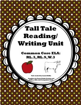 Tall Tale Unit- Reading and Writing- Common Core ELA RL.3, RL.9, W.3