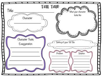 Tall Tale Writing Graphic Organizer