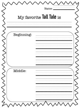 Tall Tale Writing Response